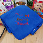 Embroidered Paws Off Pet Blanket