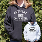 Personalized Dog Walker Athletic Dept. Hooded Sweatshirt