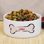 Personalized Ceramic Dog Food Bowl U368214