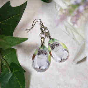 Picture Perfect Pet Photo Crystal Earrings