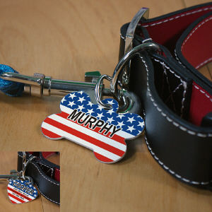 Personalized Stars and Stripes Pet Tag