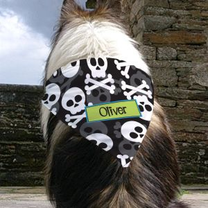 Personalized Skull and Crossbones Bandana