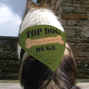 Personalized Top Dog Bandana