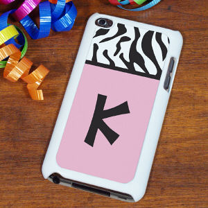 Custom Zebra Print iPod Touch 4 Case