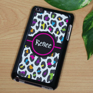 Multicolored Leopard Print iPod Touch Case