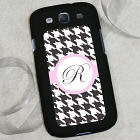 Personalized Samsung Galaxy S 3 Case - Houndstooth Design