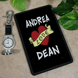 Personalized Love Banner Kindle Fire Cover