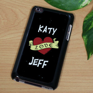 Personalized Love Banner iPod Touch 4 Case