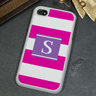 Personalized Modern Stripes iPhone 4S Case