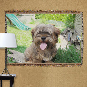 Personalized Pet Photo Tapestry Throw Blanket