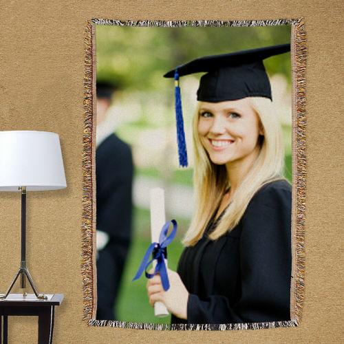 Graduation Photo Tapestry Throw Blanket | Personalized Graduation Gifts
