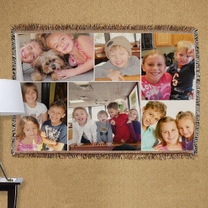 Collage Photo Tapestry Throw Blanket 83044915