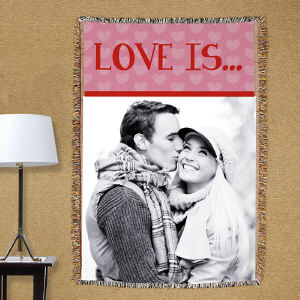 Love Is...Photo Tapestry Throw Blanket