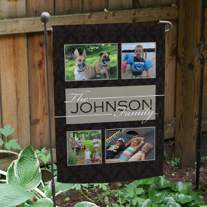 Family Photo Garden Flag