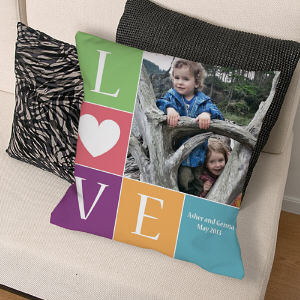 Personalized Love Photo Throw Pillow 83070393