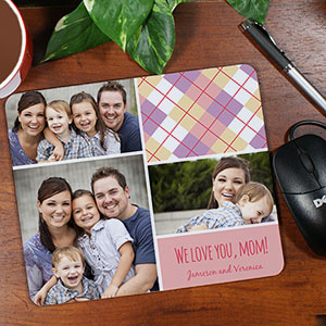 Personalized Mom Photo Collage Mouse Pad