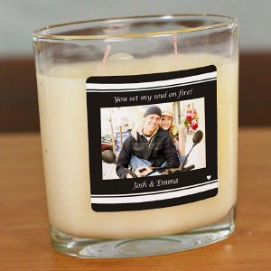 Personalized Couples Photo Candle