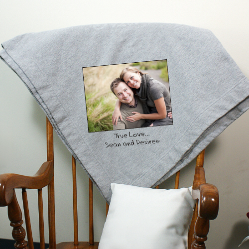 Custom Message Photo Fleece Blanket D62721