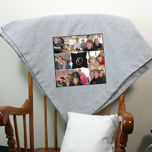 Monogram Photo Collage Fleece Blanket D70821