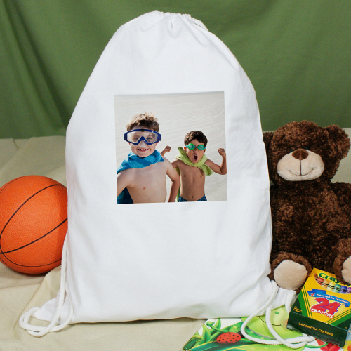 Photo White Sports Bag | Personalized Photo Gifts
