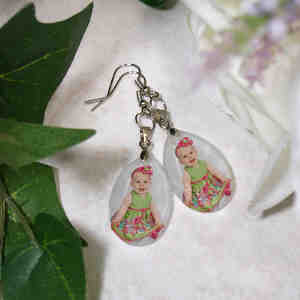 Picture Perfect Photo Crystal Earrings