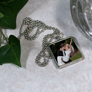 Picture Perfect Wedding Photo Square Frame Necklace