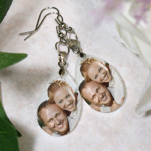Picture Perfect Love Photo Crystal Earrings