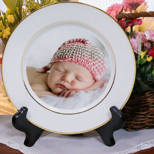 Picture Perfect Baby Photo Ceramic Plate