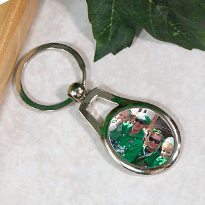 Picture Perfect Family Photo Oval Keychain