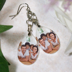 Picture Perfect Family Photo Crystal Earrings