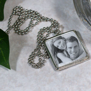 Picture Perfect Love Photo Square Frame Necklace