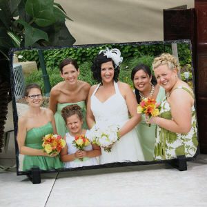Picture Perfect Wedding Party Photo Stone Keepsake