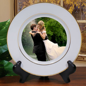 Picture Perfect Wedding Photo Ceramic Plate