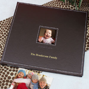 Personalized Leather Photo Scrapbook Album