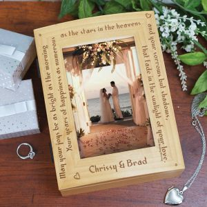 Old Wedding Blessing Photo Keepsake Box | Personalized Keepsake Box