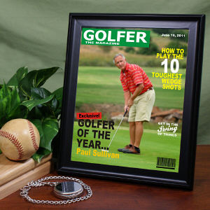 Personalized Golfer Magazine Cover