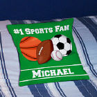 Sports Fan Personalized Throw Pillow