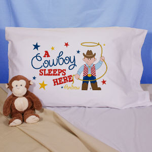 Personalized Cowboy Pillowcase