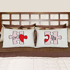 You and Me Puzzle Pillowcase Set