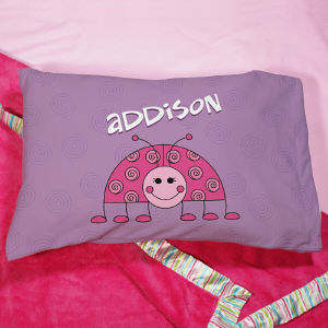 Personalized Ladybug Pillow