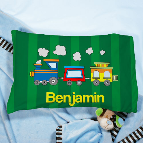 Personalized Choo Choo Pillow | Personalzied Nursery Decor