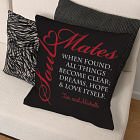 Personalized Found Soul Mates Throw Pillow