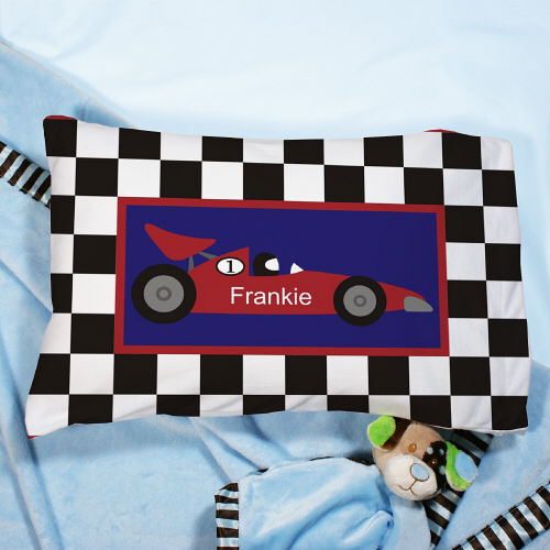 Personalized Race Car Pillow | Personalized Pillowcases