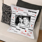 Personalized Why I Love You Photo Throw Pillow
