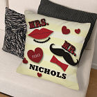 Personalized Mr. and Mrs. Wedding Throw Pillow
