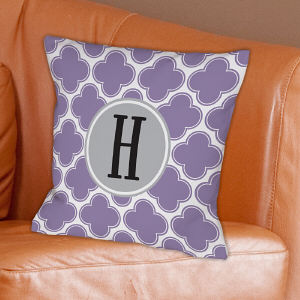 Monogrammed Moroccan Throw Pillow
