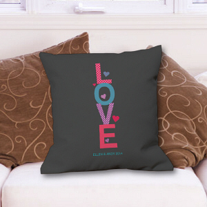 Personalized Love Throw Pillow