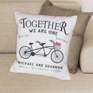 Together We Are One Throw Pillow