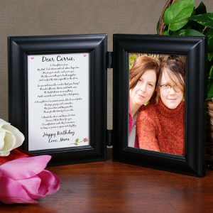 To My Daughter Personalized Picture Frame