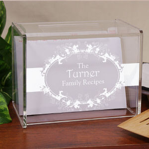 Engraved Family Recipe Box